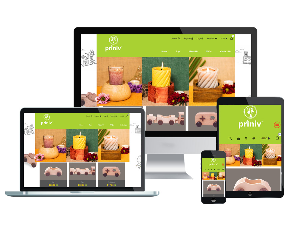 Priniv - Website Designed and Developed by Global Buzz