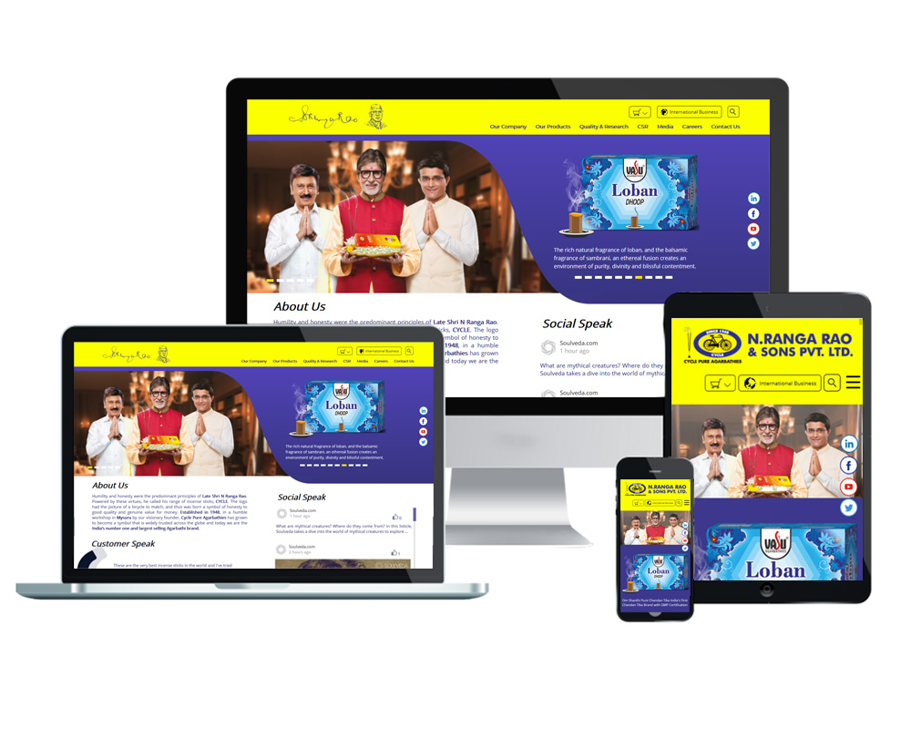 N. Ranga Rao and Sons Pvt. Ltd - Website Designed and Developed by Global Buzz