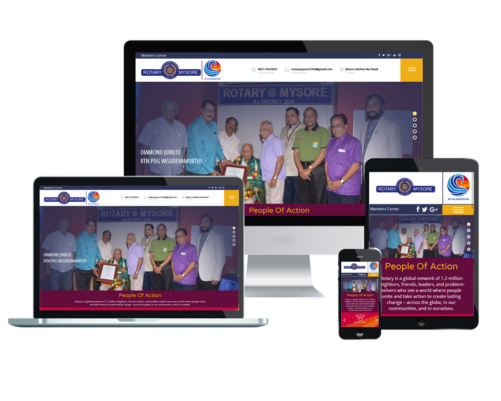 Rotary Mysore - Website Designed and Developed by Global Buzz