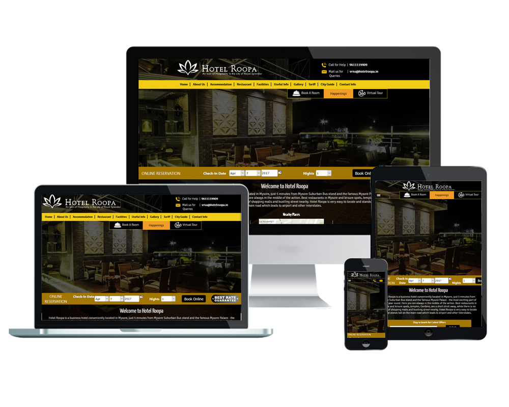 Hotel Roopa - Website Designed and Developed by Global Buzz