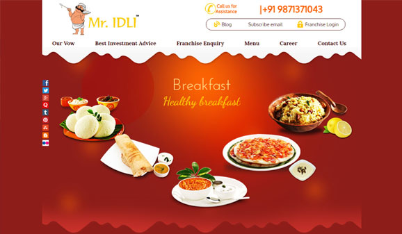 Mr Idli - Website Designed and Developed by Global Buzz