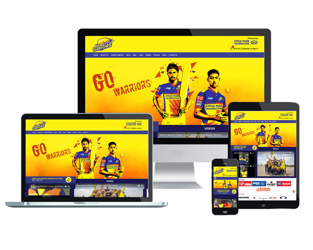 Mysore Warriors - Website Designed and Developed by Global Buzz